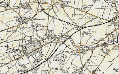 Old map of Monxton in 1897-1900