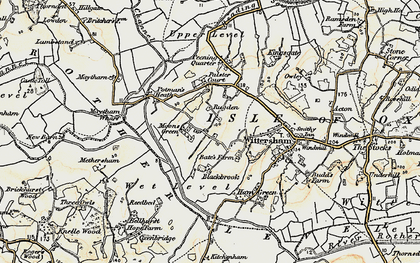 Old map of Wittersham Manor in 1898