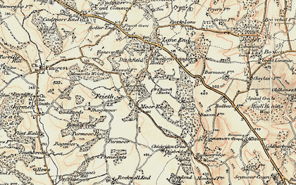 Old map of Moor Common in 1897-1898
