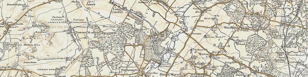 Old map of Crichel Ho in 1897-1909