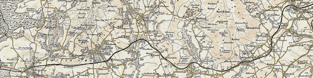 Old map of Whingreen in 1899-1900