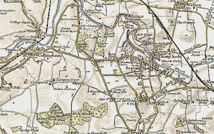 Old map of Wetherby Grange in 1903-1904