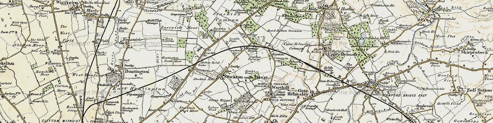 Old map of World's End in 1903-1904
