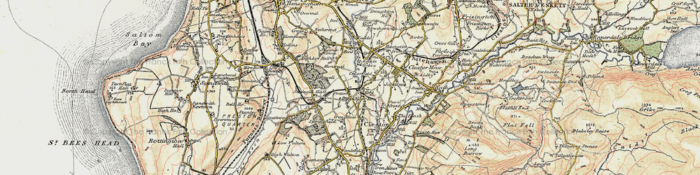 Old map of Westlakes Science Park in 1901-1904