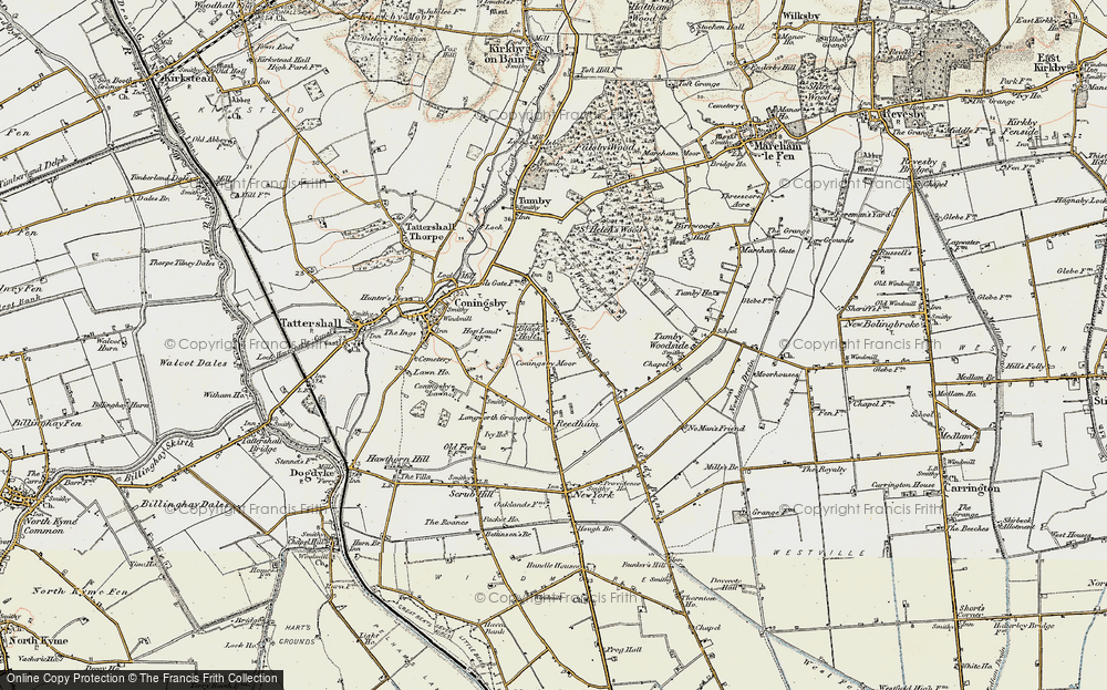 Old Map of Moor Side, 1902-1903 in 1902-1903