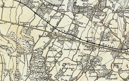 Old map of Moor Street in 1897-1898