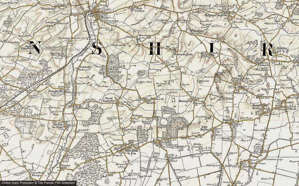 Old Map of Moorby, 1902-1903 in 1902-1903