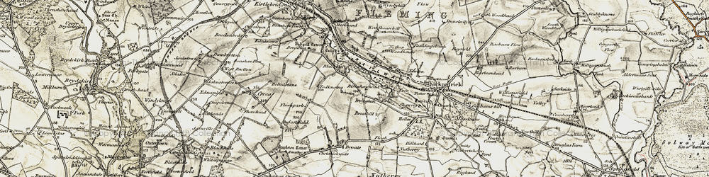 Old map of Westlands in 1901-1904