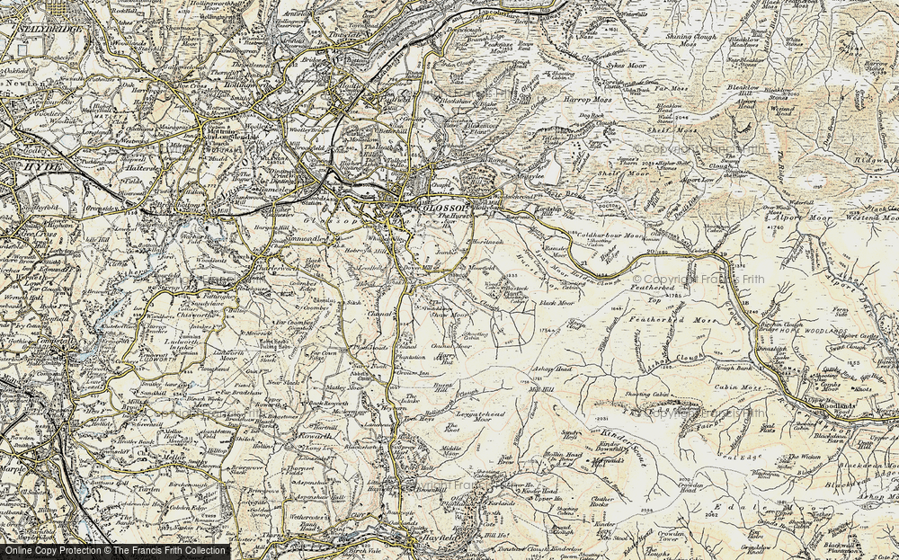 Old Map of Historic Map covering Wood's Cabin in 1903