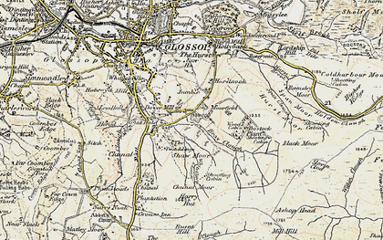 Old map of Within Clough in 1903