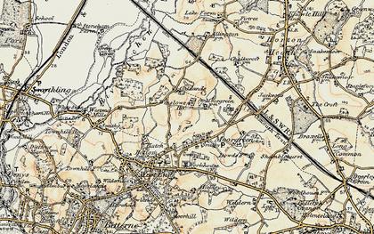 Old map of Winslowe Ho in 1897-1909