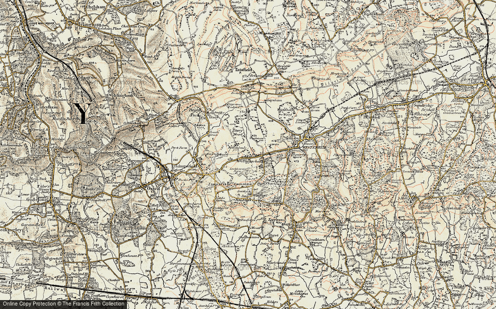 Old Map of Historic Map covering Titsey Wood in 1898-1902