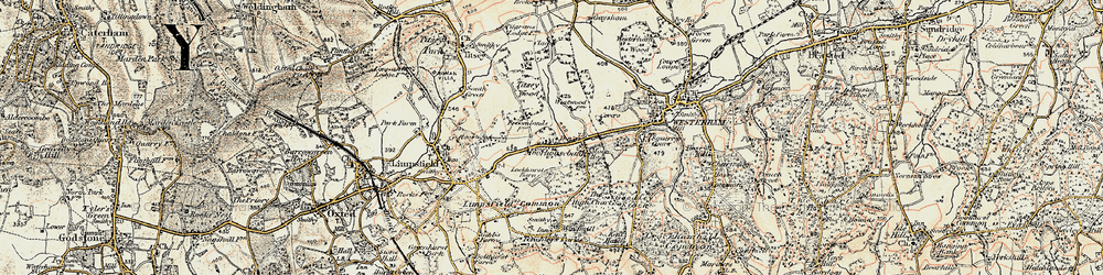 Old map of Titsey Wood in 1898-1902