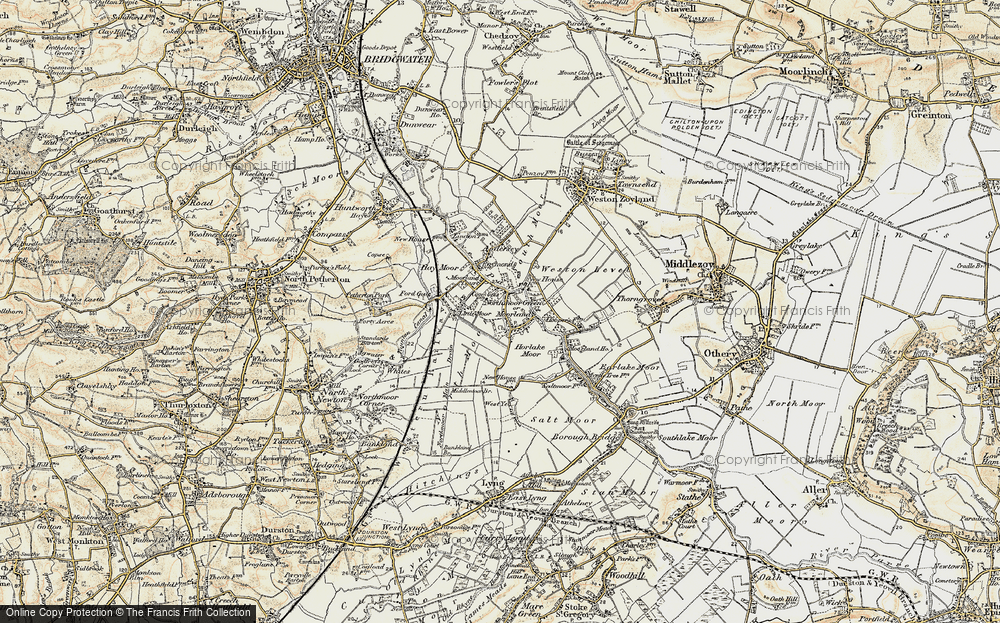 Old Map of Moorland, 1898-1900 in 1898-1900