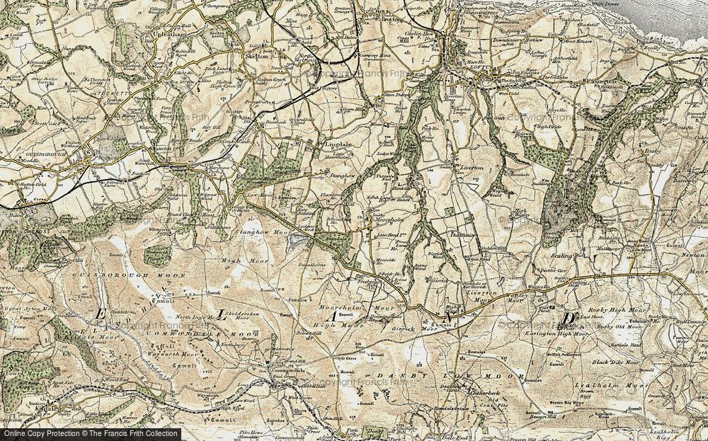 Old Map of Moorsholm, 1903-1904 in 1903-1904