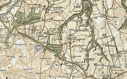 Old map of Moorsholm in 1903-1904