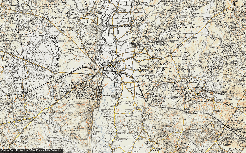 Old Map of Historic Map covering Avon Valley Path in 1897-1909