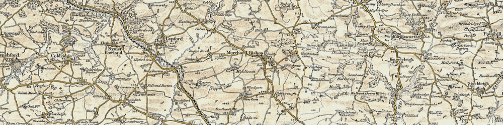 Old map of Langland in 1899-1900