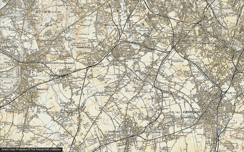 Old Map of Morden, 1897-1909 in 1897-1909