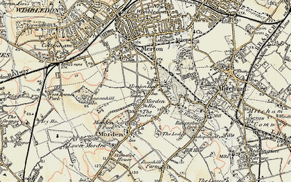 Old map of Morden in 1897-1909