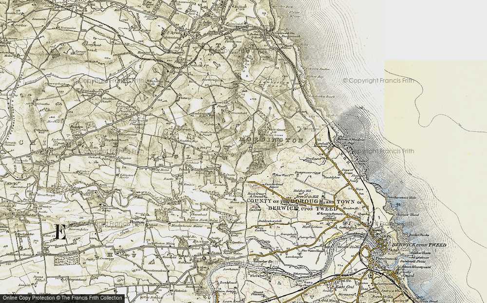 Old Map of Historic Map covering Woodhills in 1901-1903