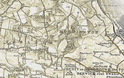 Old map of Witches' Knowe in 1901-1903
