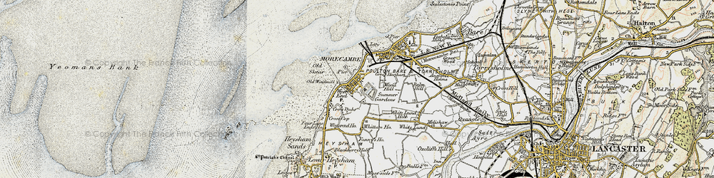 Old map of Whittam Ho in 1903-1904