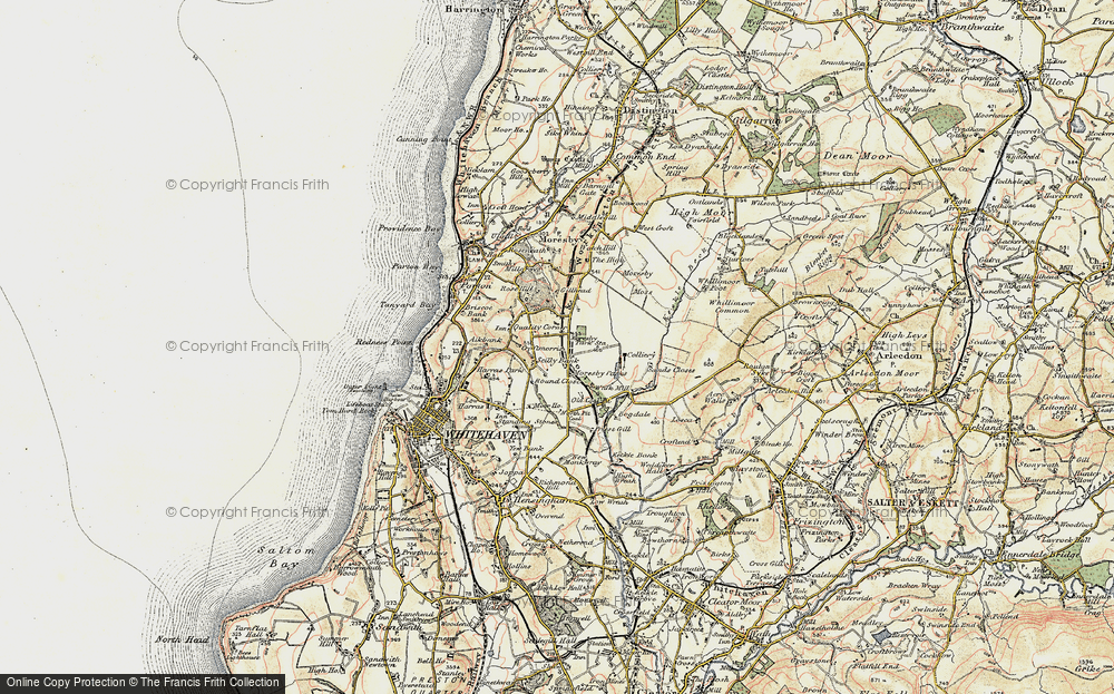 Old Map of Historic Map covering Abbey Flatts in 1901-1904