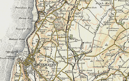 Old map of Moresby Parks in 1901-1904