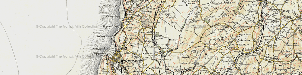 Old map of Abbey Flatts in 1901-1904