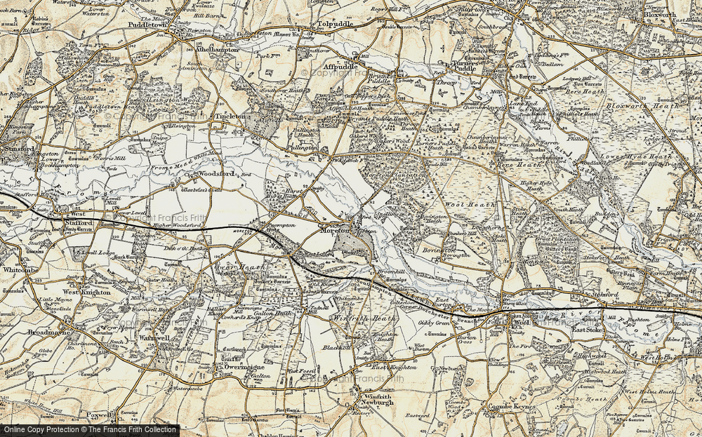 Old Map of Moreton, 1899-1909 in 1899-1909