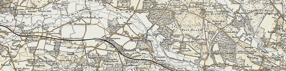 Old map of Moreton in 1899-1909