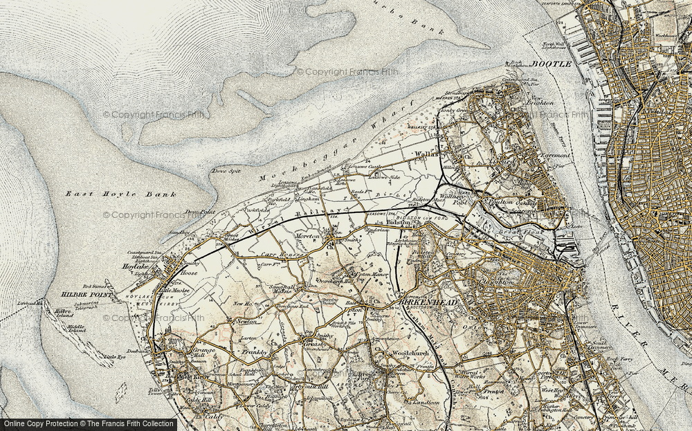 Old Map of Moreton, 1902-1903 in 1902-1903