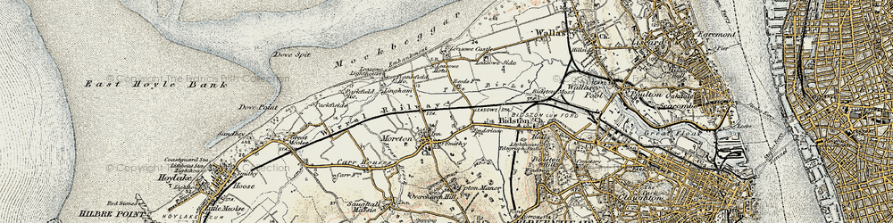 Old map of Moreton in 1902-1903