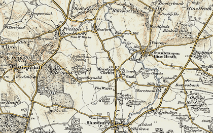 Old map of Acton Lea in 1902