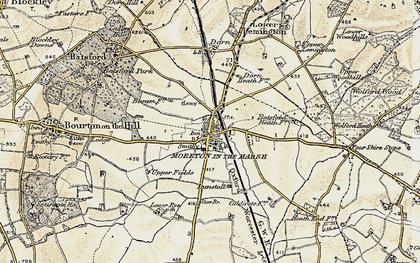 Old map of Moreton-in-Marsh in 1899