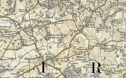 Old map of Windmill Hill in 1899-1901