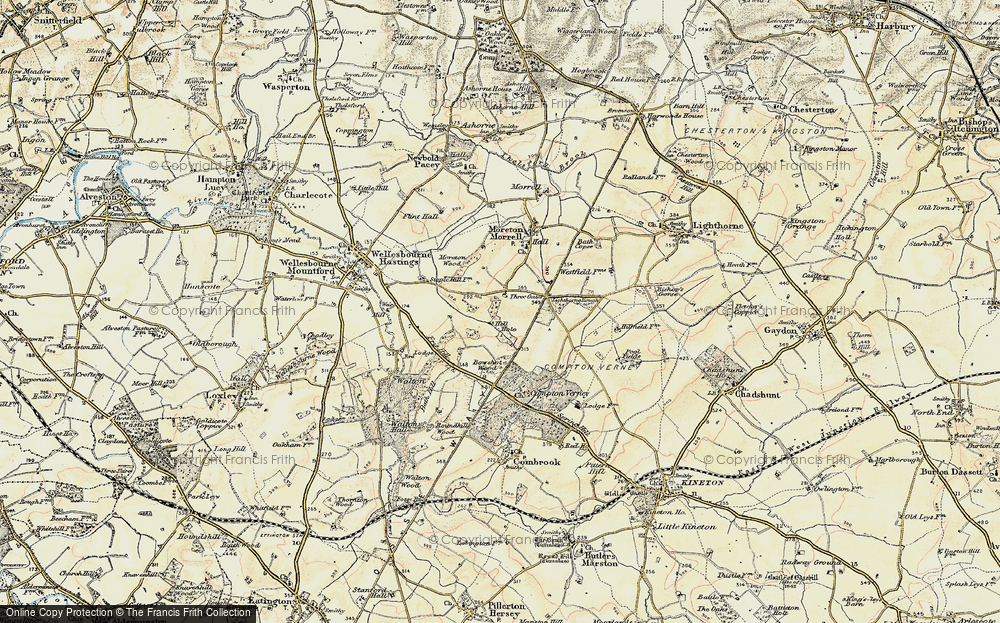 Old Map of Moreton Paddox, 1899-1902 in 1899-1902
