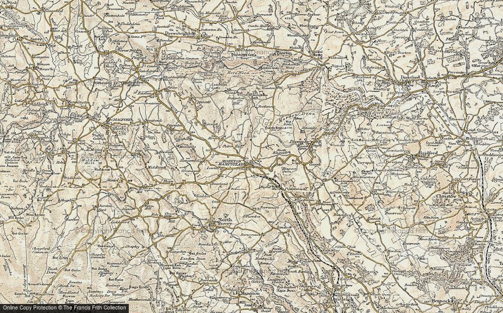 Old Map of Moretonhampstead, 1899-1900 in 1899-1900
