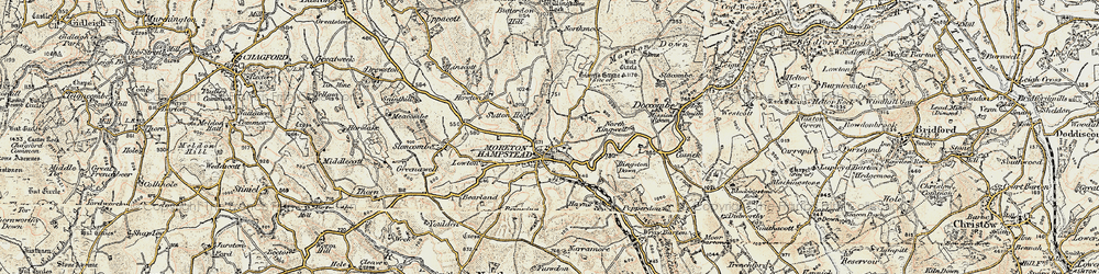 Old map of Willingstone in 1899-1900