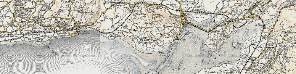 Old map of Morfa Bychan in 1903