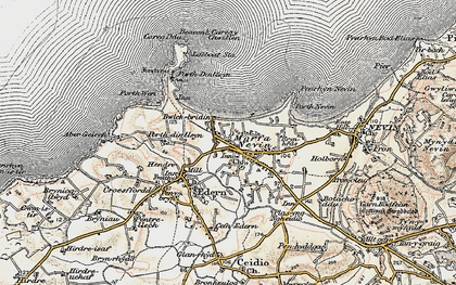 Old map of Porth Dinllaen in 1903