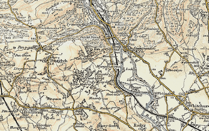 Old map of Morganstown in 1899-1900