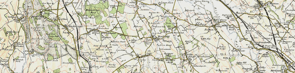 Old map of Akeygate in 1901-1904