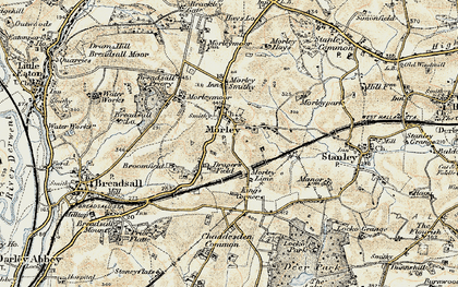 Old map of Morley in 1902-1903