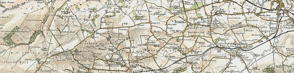 Old map of Wind Mill in 1903-1904