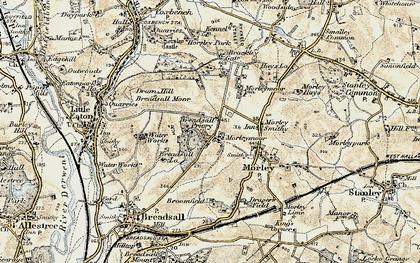 Old map of Morleymoor in 1902-1903