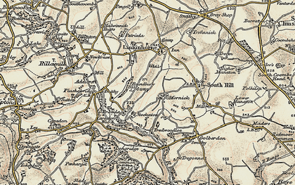 Old map of Mornick in 1899-1900