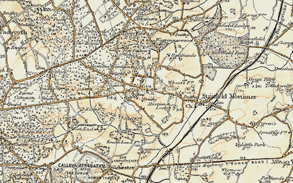 Old map of Mortimer in 1897-1900