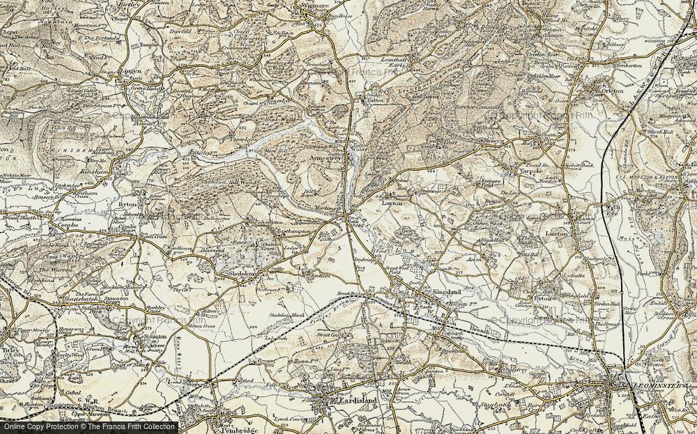 Old Map of Mortimer's Cross, 1900-1903 in 1900-1903
